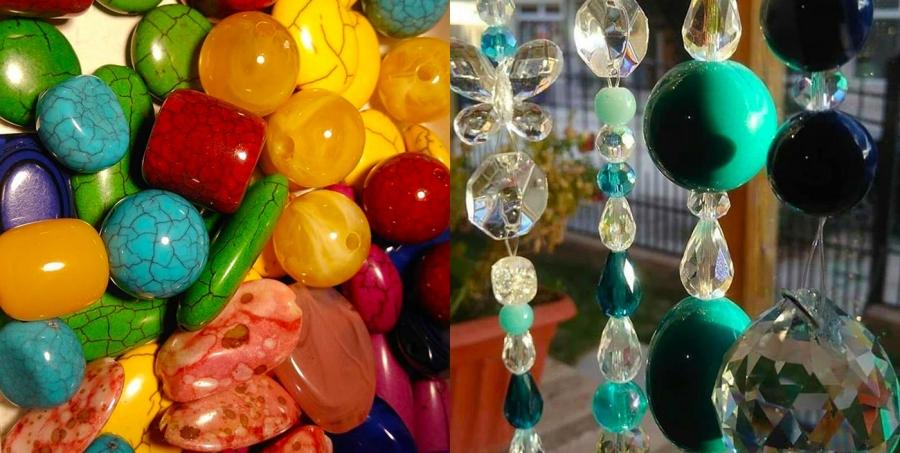 Colgantes de colores